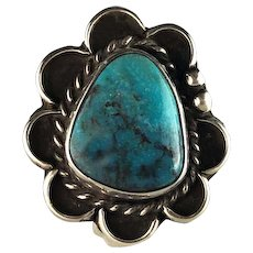 Navajo Sterling and Turquoise Blossom Ring