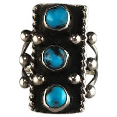 Navajo Sterling and Turquoise Ring From 1970's