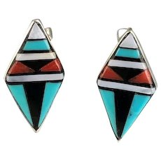 Zuni Inlay Post Earrings