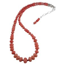 White Fox Creation: Angle Skin Coral Necklace
