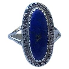 Sterling and Lapis Lazuli Ring by Navajo Artist Richard Kee