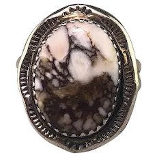 Sterling and Wild Horse Magnesite Ring
