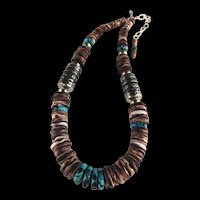 White Fox Creation: Turquoise and Purple Spiny Oyster Necklace