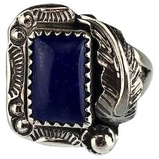 Navajo Sterling and Lapis Ring
