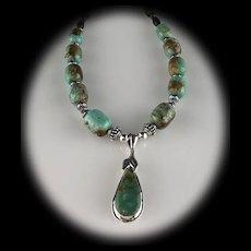 White Fox Creation: Pilot Mountain Turquoise Necklace