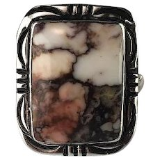 Navajo Sterling and Wild Horse Magnesite Ring