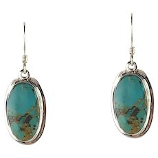 Navajo Sterling and Turquoise Earrings by Melissa Yazzie