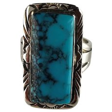Navajo Sterling and Turquoise Ring by Melvin Thompson