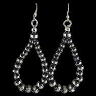 Sterling Navajo Pearl Earrings