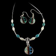 White Fox Creation: Petite Zuni Inlay Set