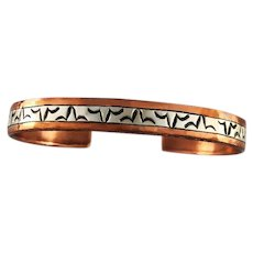 Sterling and Copper Bracelet by Willie Saiz