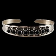 Native American Sterling and Onyx Bracelet