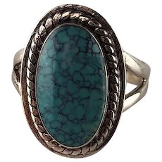 Native American Sterling and Turquoise Ring