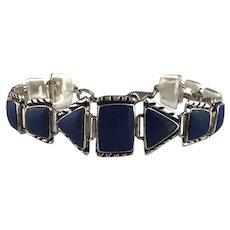 Navajo Sterling and Lapis Bracelet