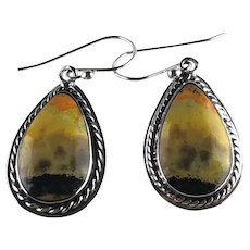 Navajo Sterling and Bumble Bee Jasper Earring
