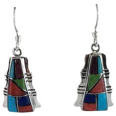 Oodles of Color in these Multi Stone Native American Earrings