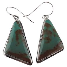 Navajo Sterling and Royston Turquoise Earrings
