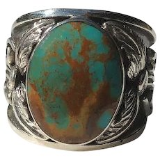 Navajo Sterling and Turquoise Men's Ring