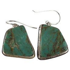 Navajo Sterling and Chunky Turquoise Earrings