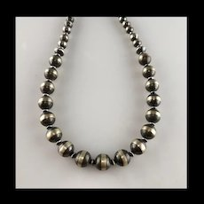 Large Sterling Navajo Pearl Necklace