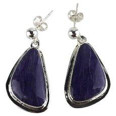 Navajo Sterling and Charoite Earrings
