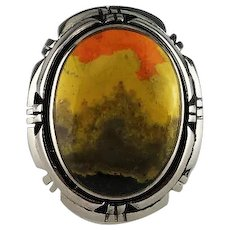Navajo Sterling and Bumble Bee Jasper Ring