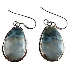 Navajo Sterling and Larimar Earrings