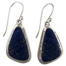 Navajo Sterling and Lapis Lazuli Earrings