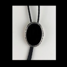 Navajo Sterling and Onyx Bolo