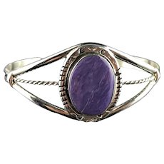 Sterling and Charoite Bracelet by Richard Kee