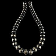 White Fox Creation: Chunky Sterling Navajo Pearl Necklace