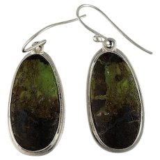 Navajo Sterling and Gaspeite Earrings
