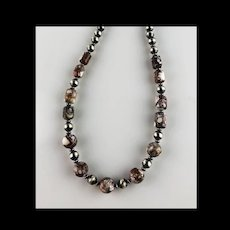 White Fox Creation: Unisex Wild Horse Magnesite Choker/Necklace