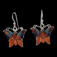Native American Inlay Butterfly Earrings