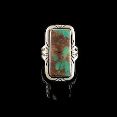 Navajo Sterling & Turquoise Ring  Size 7