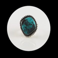 Vintage Navajo Sterling and Bisbee Turquoise Ring