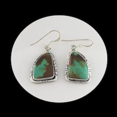 Native American Sterling and Pilot Mountain Earrings