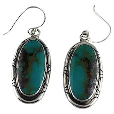 Navajo Sterling and Turquoise Earrings.
