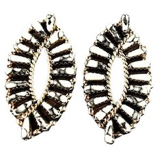Graceful White Buffalo Earrings By Navajo Artist Tom Billy