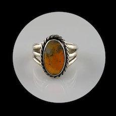 Navajo and Bumblebee Jasper Ring  Size 6 1/2