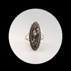 Navajo Sterling and Wild Horse Magnesite Ring Size 6 1/2