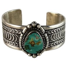 Gorgeous Navajo Sterling and Turquoise Bracelet
