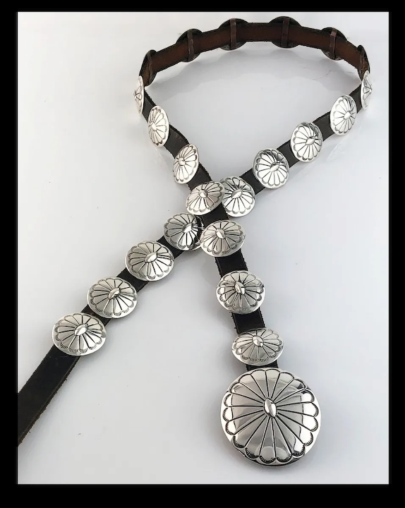 Petite All Sterling Ladies Concho Belt