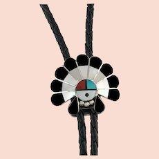 Zuni Sunface Headdress Bolo