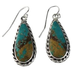 Sterling and Turquoise Earring by Navajo Artist Melissa Yazzie