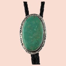 Navajo Sterling and Cave Creek Turquoise Bolo