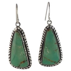 Navajo Sterling and Cave Creek Turquoise Earrings