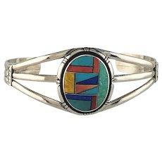 Native American Multi Stone Inlay Bracelet