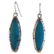 Navajo Sterling and Sleeping Beauty Turquoise by Melissa Yazzie