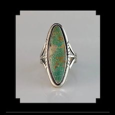 Sterling & Turquoise Ring by Navajo Artist Melissa Yazzie  Size 8